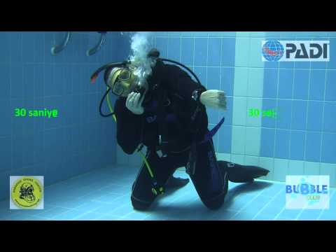 PADI IDC Skill Demonstration - Free Flow Regulator Breathing