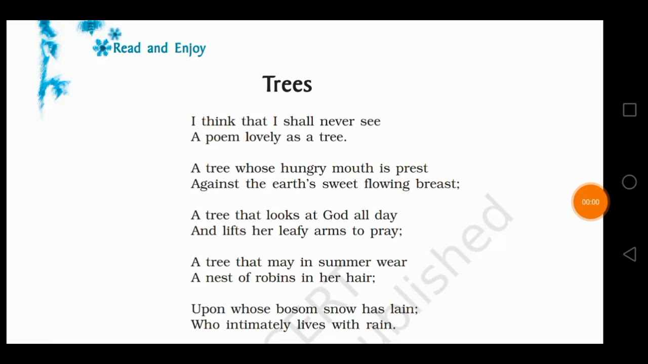 Ncert Class 9th Beehive Trees Poem Hindi Explanation