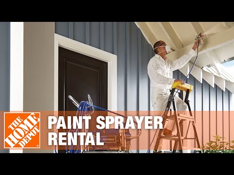 Paint Sprayer Rental The Home Depot Youtube
