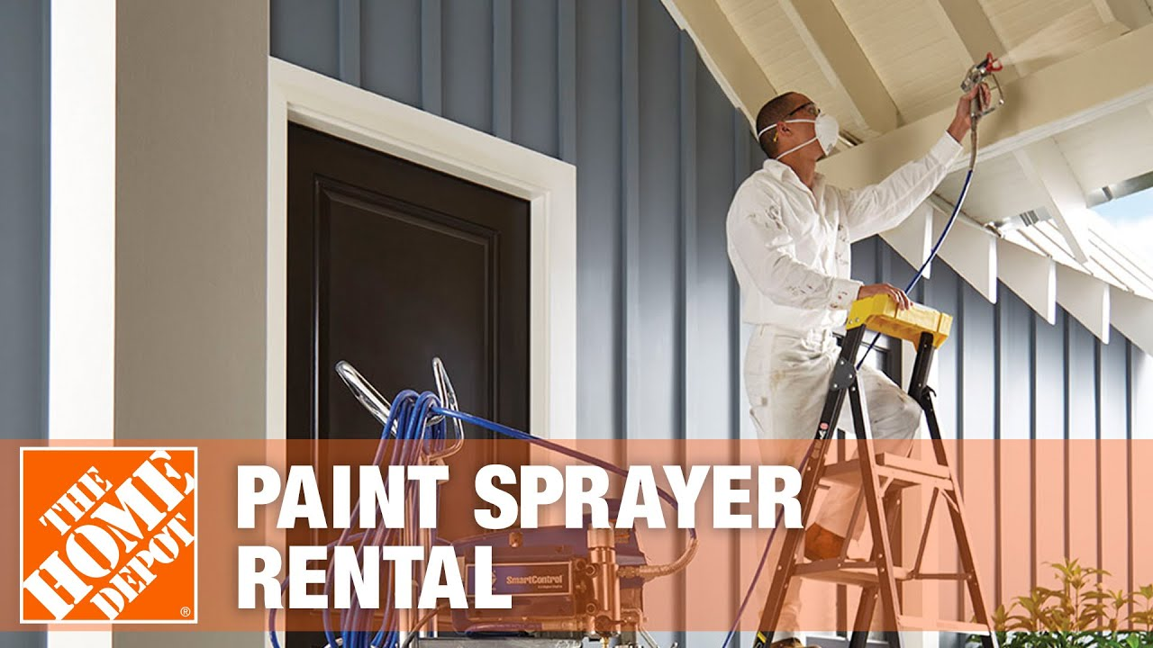 paint sprayer rental the home depot youtube. Black Bedroom Furniture Sets. Home Design Ideas