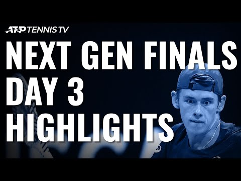 De Minaur Joins Tiafoe and Kecmanovic in Semis | Next Gen ATP Finals Day 3 Highlights