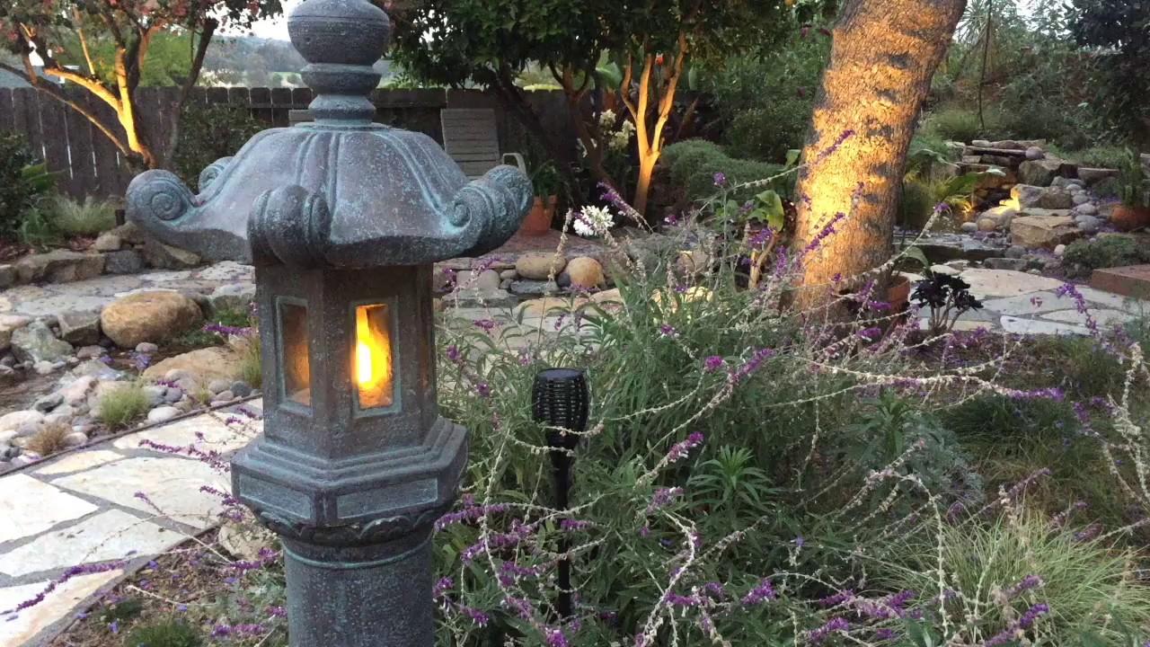 Bon Japanese Garden Lantern Flickering LED Retrofit