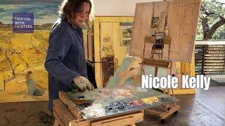 Artist Nicole Kelly talks with Maria Stoljar in her studio