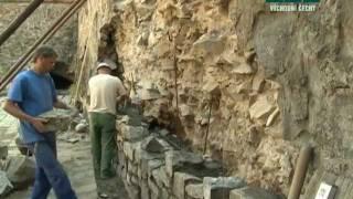 Oprava zdí kostela sv. Bartoloměje