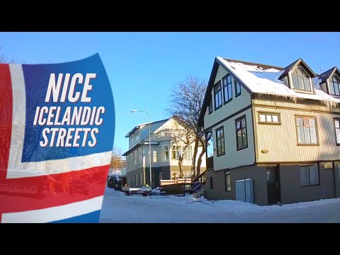 how-do-icelanders-live---summer-&-winter-residential-street-view