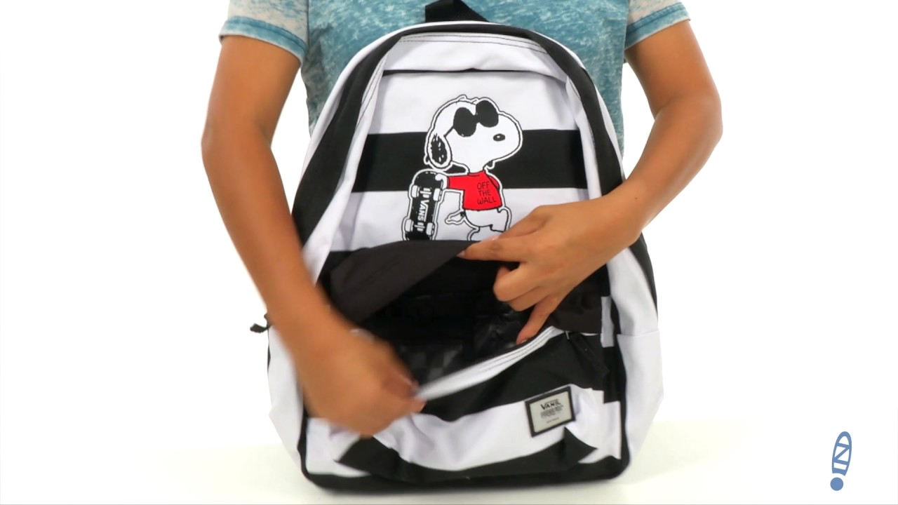43a62fb8d23 Vans Peanuts Realm Backpack SKU 8911773 - YouTube
