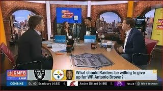What should Raiders be willing to give up for WR Antonio Brown?