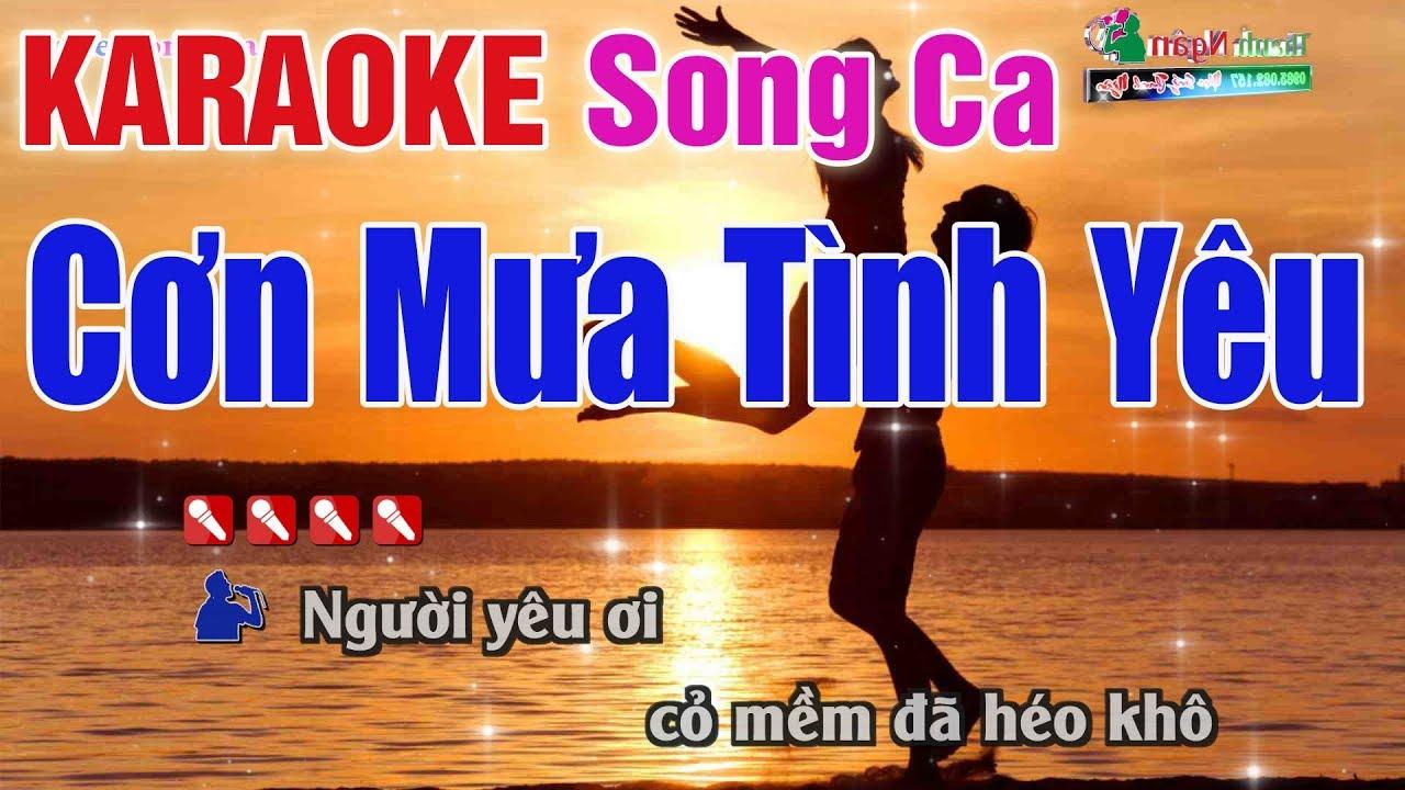 Cơn Mưa Tình Yêu Karaoke Song Ca | Bản Chuẩn 2020 – Nhạc Sống Thanh Ngân