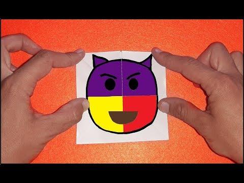 Emoji Paper Carta Mágica - COMO FAZER Troca Rostos Emoji