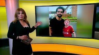 هذه حقيقة صورة محمد صلاح مع طفل ينزف دما من وجهه