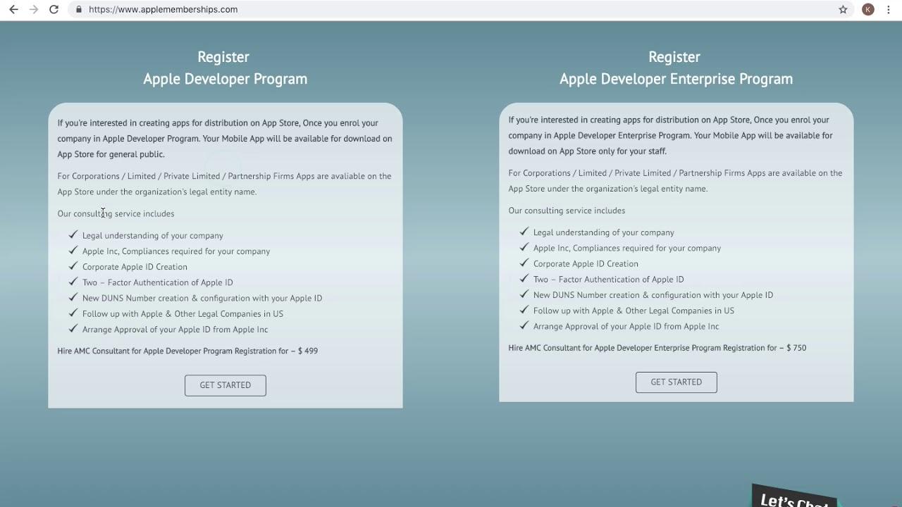 Apple Developer Program Membership