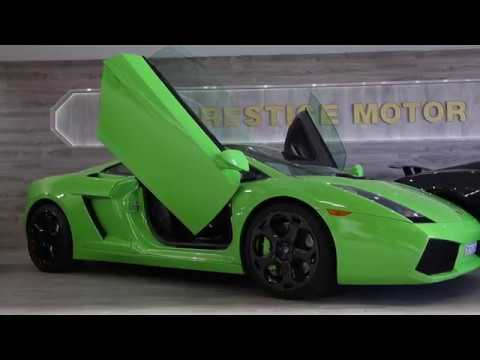 A Lamborghini Gallardo With Scissor Doors Youtube