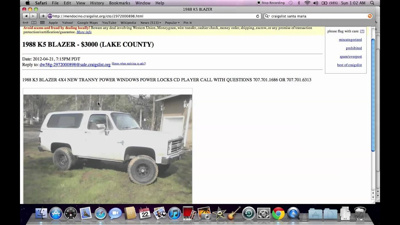 Craigslist Cars In Mendocino County