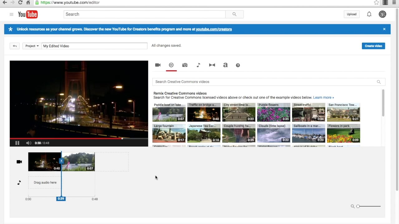 How To Make A Video Using Youtube Video Editor 2017 - YouTube