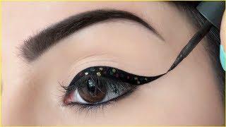 3 अनोखे Eye Liners लगाने का आसान तरीका - Polka Dot, Multi Winged & Colour Eyeliners | Anaysa