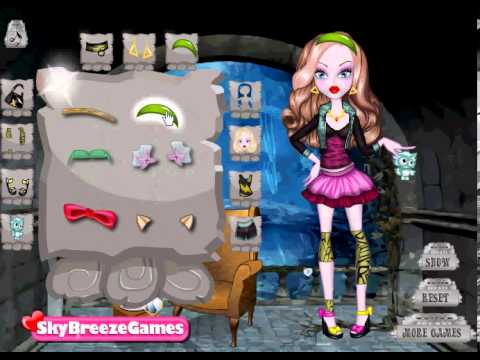 Модный показ монстер хай игра, играть монстер хай онлайн
