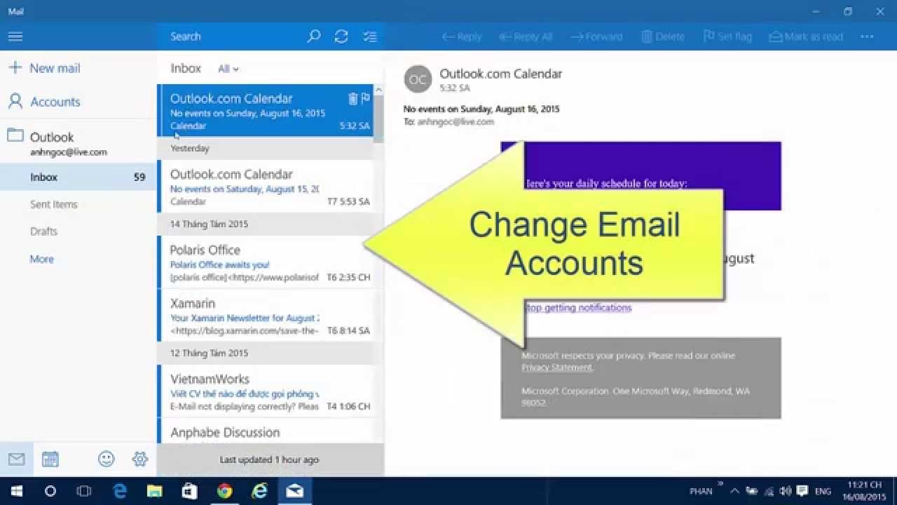 How to configure Email Account in Windows 10 Mail - YouTube