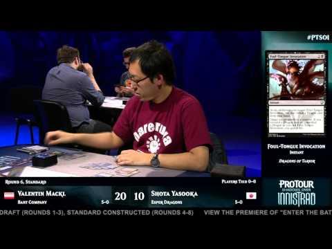 Pro Tour Shadows over Innistrad Round 6 (Standard): Valentin Mackl vs. Shota Yasooka