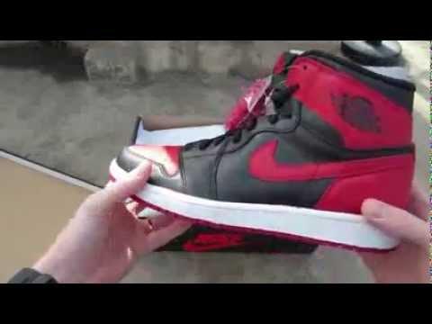 Air Jordan 1 Retro High OG 'Bred'  Black Red (1994)(2001)(2013)