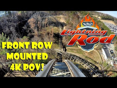 Lightning Rod - Dollywood - FRONT ROW MOUNTED POV IN 4K!