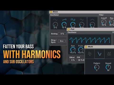 How to Fatten Your Bass with Harmonics and Sub Oscillators using Max for Live