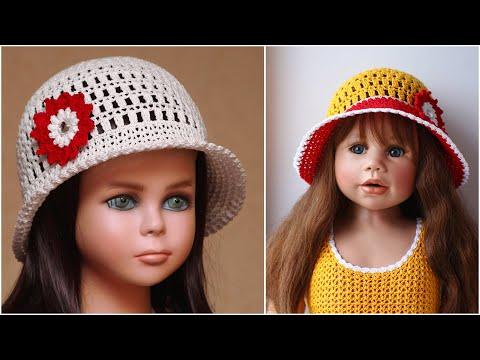 Шляпа летняя женская крючком видео