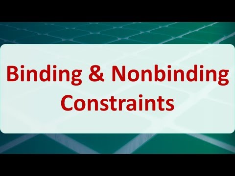 03E Binding & Nonbinding Constraints