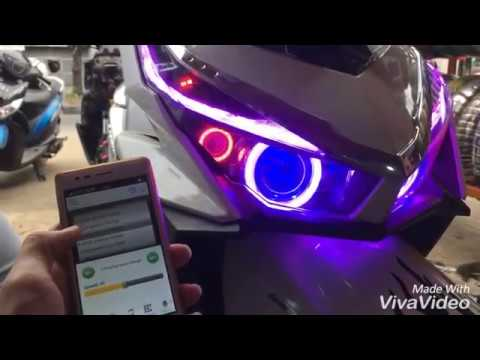 HID PROJECTOR ANGEL EYES MULTI COLOUR WITH WIFI