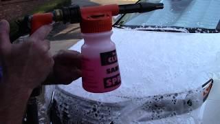 Foaming Car Without Power Washer - Foam Gun Car Wash
