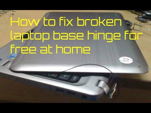 How to fix broken base hinges of any Laptop for free and fabrication and base disclosure explained!
