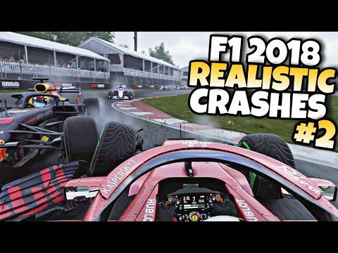 F1 2018 REALISTIC CRASHES #2  