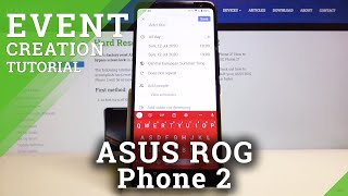 Come aggiungere un evento al calendario in Asus Rog Phone 2 - Imposta promemoria