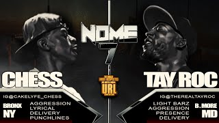 TAY ROC VS CHESS SMACK/ URL RAP BATTLE | URLTV