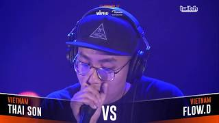 THAI SON VS FLOW D|Asia Beatbox Championship 2018 Semi Final Loopstation Battle