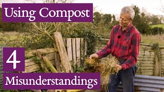 Charles Dowding shows compost qualities, when to spread, and how much!