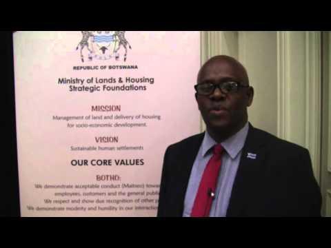 Thato Raphaka, Permanent Secretary, Ministry of Lands and Housing, Botswana
