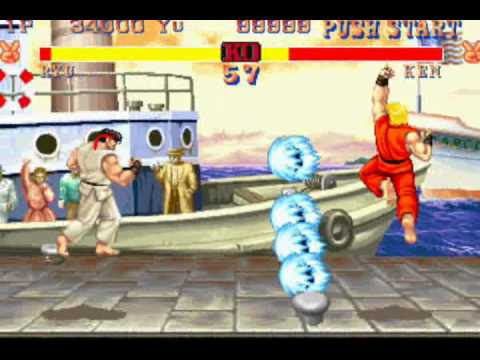 street fighter 2 arcade screenshot