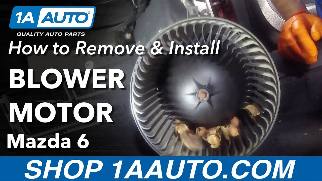How to Replace Blower Motor 02-07 Mazda 6