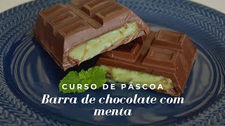 BARRA DE CHOCOLATE COM MENTA