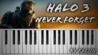 [FR] HALO 3 - NEVER FORGET / PIANO 🎹 / BY RAIJIN (TEST)