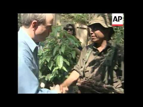 GUATEMALA: US ENVOY THOMAS MCLARTY VISITS REBEL CAMP