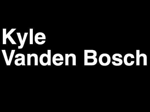 How to Pronounce Kyle Vanden Bosch Detroit Lions NFL Football Touchdown TD Tackle Hit Yard Run