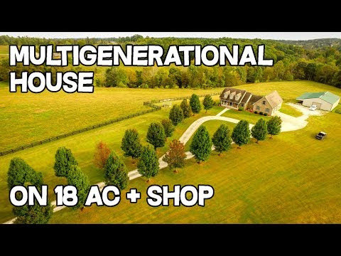 Multigenerational living property Mother Daughter apartment metal shop 18 ac estate house for sale