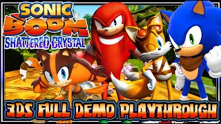 Sonic Boom Shattered Crystal (1080p) 3DS FULL Demo Playthrough