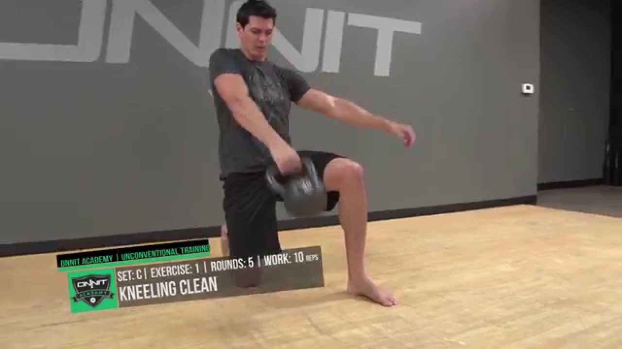 Split Stance Power Kettlebell Workout Created by ONNIT