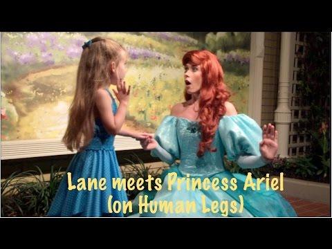 Lane meets The Little Mermaid Princess Ariel (on Human Legs) at Walt Disney World