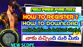 how to download freefiremax||freefire max in mobile|how to download freefiremax beta version telugu