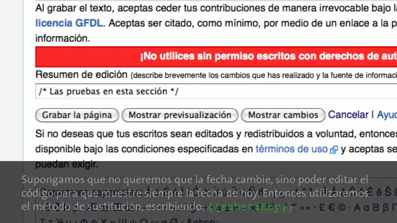 Curso Mediawiki | 1.12 - Cómo insertar plantillas - YouTube