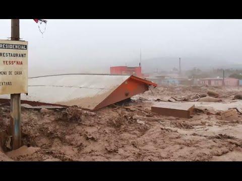 Atacama 'Tsunami': Freak rainfall floods devastate driest desert