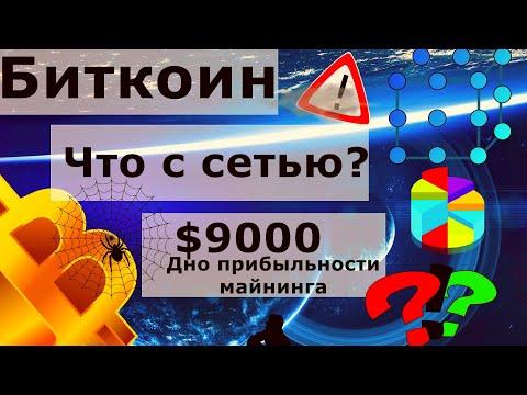 Биткоин Что с сетью? $9000 Дно прибыльности майнинга. Рост средней комиссии